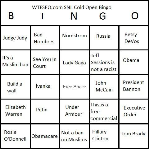 SNL Bingo